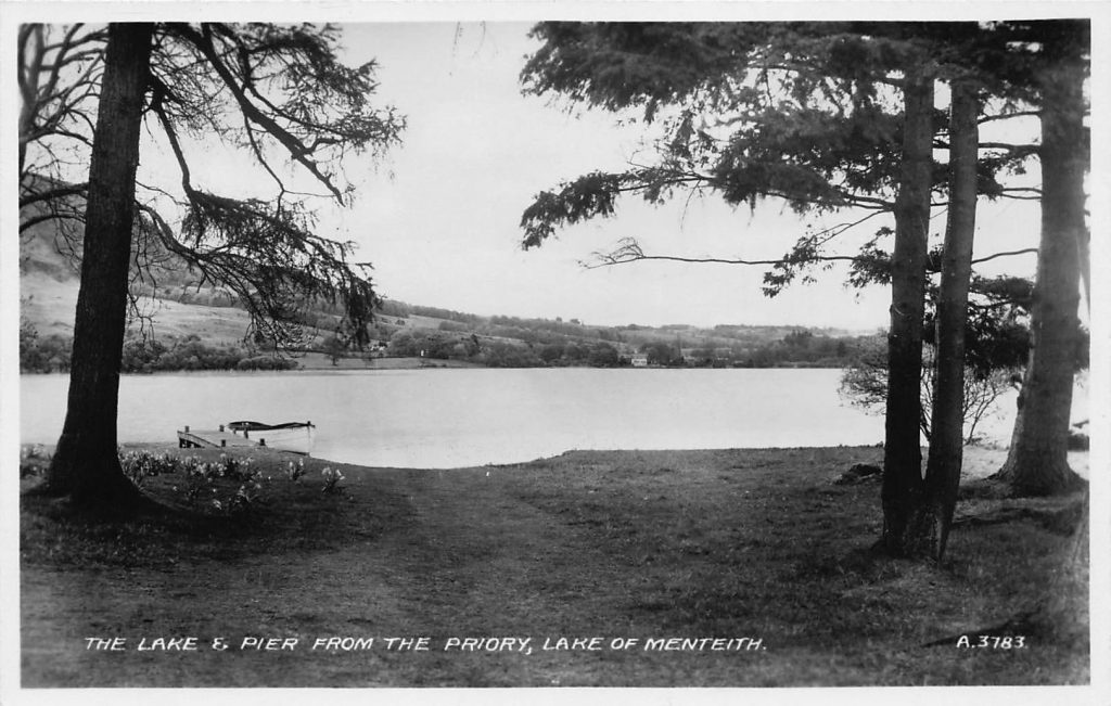The Lake & Pier from the priory, Lake of Menteith
